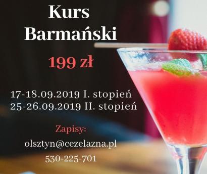 Kurs barmański I. i II. stopień, certyfikaty Olsztyn 199zł