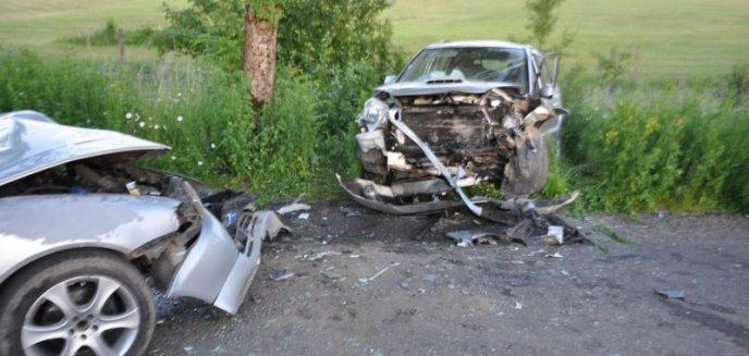 Artykuł: Wypadek na trasie Wilkasy - Grabowo. Cztery osoby w szpitalu