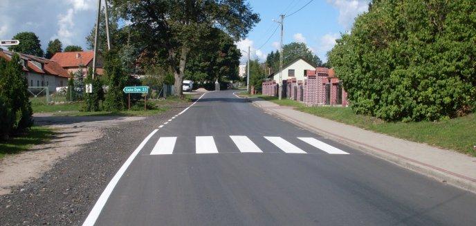 Nowe, lepsze drogi w powiecie olsztyńskim