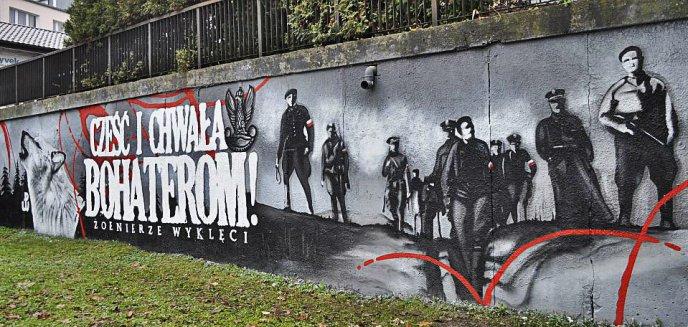 Artykuł: Nowy mural upamiętniający ''Żołnierzy Wyklętych'' powstał w Olsztynie (zdjęcia)