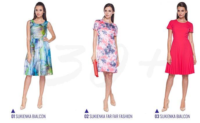 367476f9fe93 Kolorowa i elegancka - sukienka dla 30-latki