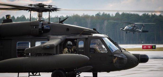 Śmigłowce amerykańskiej armii wylądowały na lotnisku Olsztyn-Mazury [ZDJĘCIA]