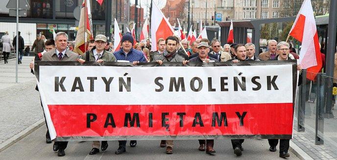 ''Katyń Smoleńsk Pamiętamy''. VI rocznica katastrofy smoleńskiej w Olsztynie [ZDJĘCIA]