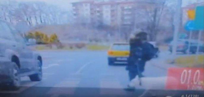 Artykuł: Nie zatrzymała się przed przejściem dla pieszych. Nie wiedziała, że ominęła radiowóz [FILM]
