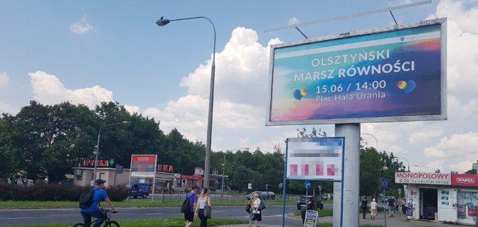 Artykuł: Promują Olsztyński Marsz Równości. Na ul. Dworcowej pojawił się jedyny w mieście billboard
