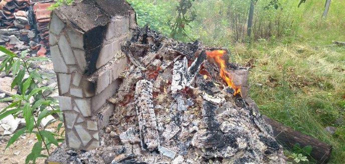 Sprzątał działkę, a zebrane śmieci postanowił spalić
