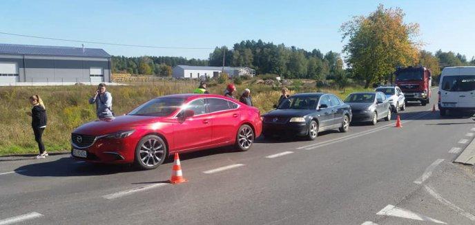 Artykuł: W Ługwałdzie zderzyły się trzy auta osobowe [ZDJĘCIA]