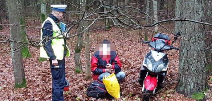 Artykuł: Pijany motorowerzysta krzywo jechał, bo... ''mu deszcz w oczy chlapał''