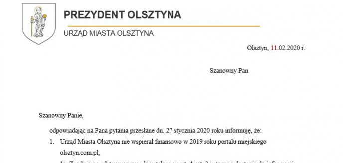 [OPINIE] Które lokalne media najwięcej zarobiły dzięki urzędowi miasta w Olsztynie?