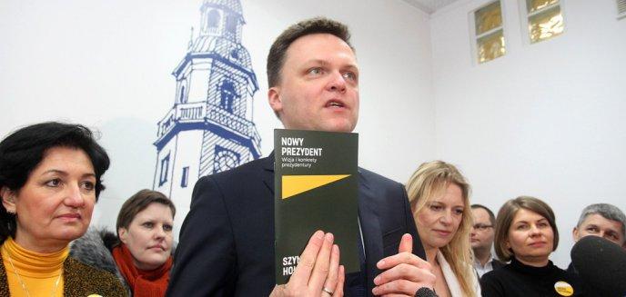 Bezpartyjny kandydat na prezydenta Polski, Szymon Hołownia, odwiedził Olsztyn [ZDJĘCIA, WIDEO]